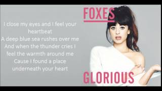 Foxes - Glorious (Lyrics)