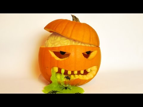 Download Halloween Pumpkin Carving Idea with Brain and Slime! Screenshots