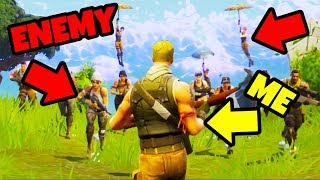 1v4 IN FORTNITE BATTLE ROYALE!  *by accident* thumbnail