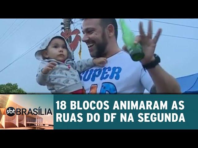 18 blocos animaram as ruas do DF na segunda | SBT Brasília 05/03/2019