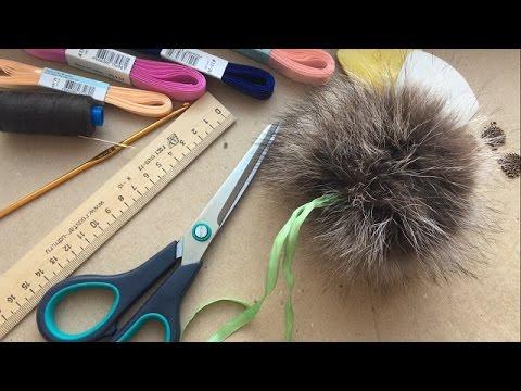 Как из меха сшить помпон из меха на шапку из воротника