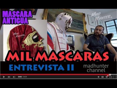 MIL MASCARAS マスク ENTREVISTA MADHUNTER MASCARA ANTIGUA PELICULA COLECCIÓN LAS MOMIAS LUCHA LIBRE