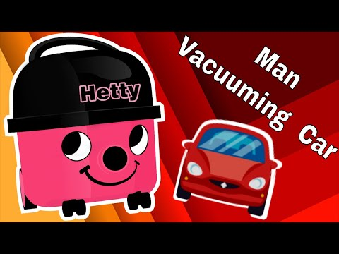 🚙 Man Vacuuming Dirty Old Car ~ Hetty the Hoover Relaxation Hoovering ~ VACUUM CLEANER WHITE SOUND