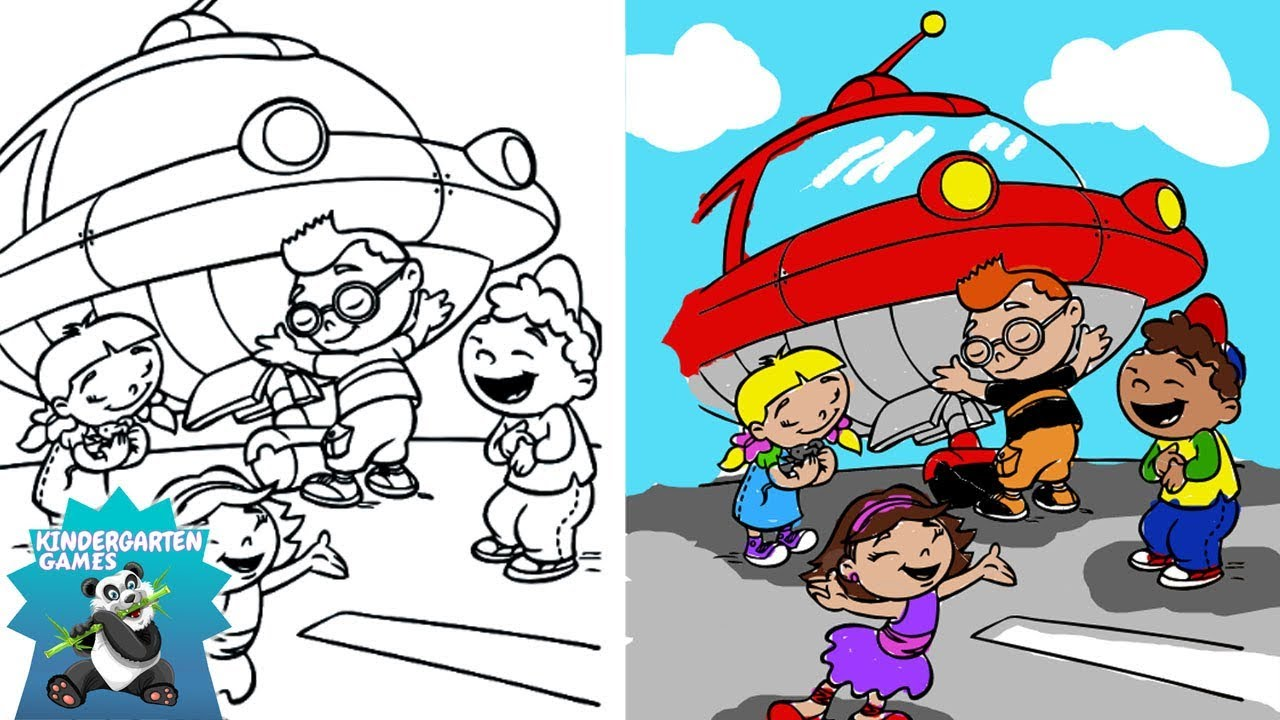 Little Einsteins Coloring Pages for Kids - YouTube