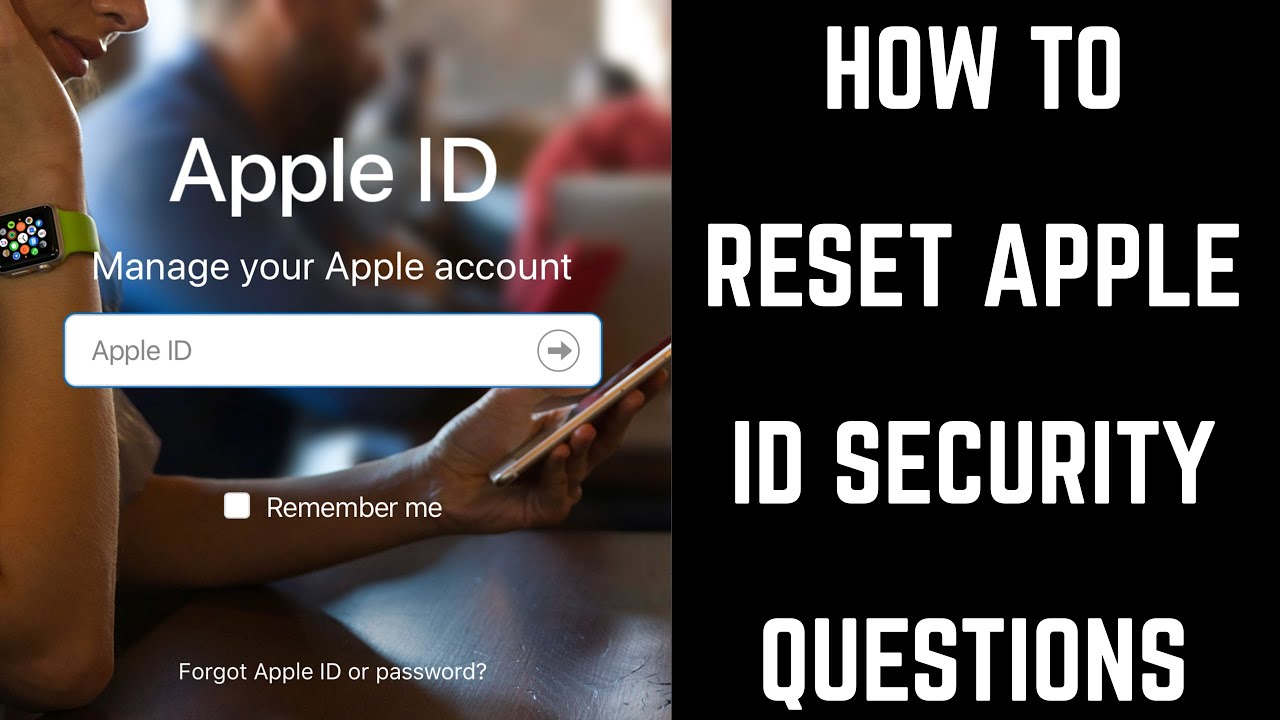 change apple id password forgot security questions