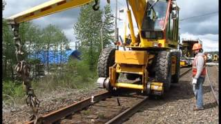 Railway maintenance of way steel crew