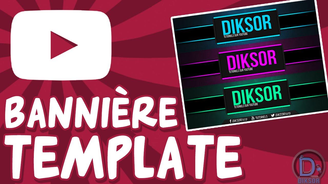 Favori Bannière Youtube Template gratuit + infos bannière Animée - YouTube HZ32