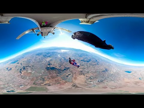 360 VR Wingsuit Pole Hand Cam Stabilized