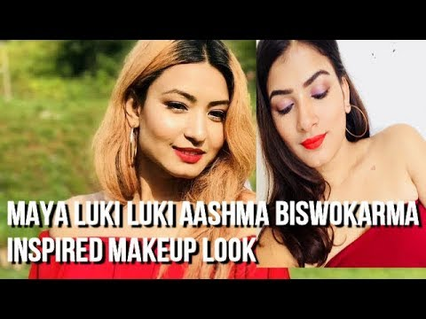 Maya Luki Luki Aashma Biswokarma Inspired Makeup Tutorial *STEP BY STEP* thumbnail