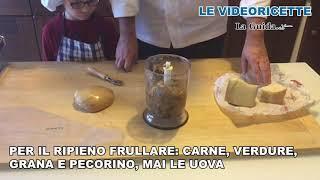 Videoricetta ravioli del plin carne e verdure