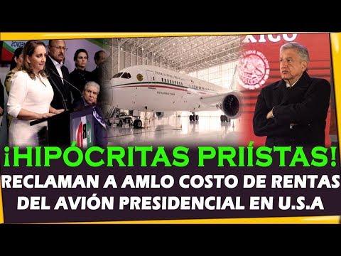 ¡HIPOCRITAS RATAS PRIISTAS RECLAMAN A AMLO! RENTAS AVION PRESIDENCIAL EN USA - ESTADISTICA POLITICA