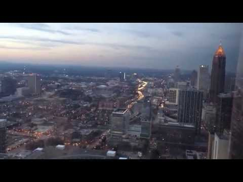 Sunset View 73 Stories over Downtown Atlanta  - The Westin Peachtree Plaza Atlanta - Atlanta Georgia