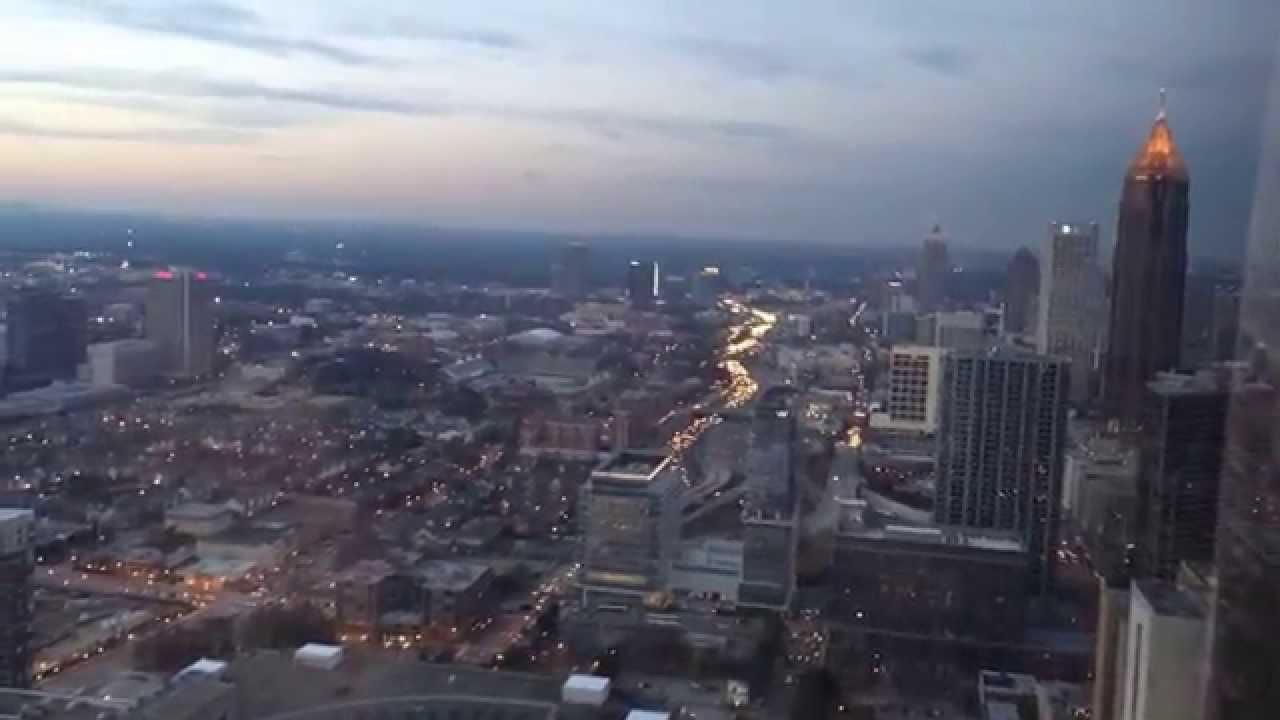 Sunset View 73 Stories over Downtown Atlanta  - The Westin Peachtree Plaza Atlanta - Atlanta Georgia