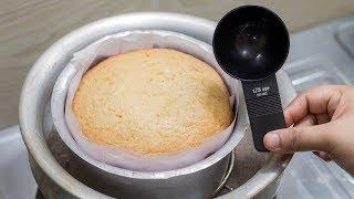 মেজারমেন্ট কাপ ছাড়াই চুলায় পারফেক্ট কেক তৈরী | একদম নতুনদের জন্য কেক রেসিপি | Plain Cake Recipe