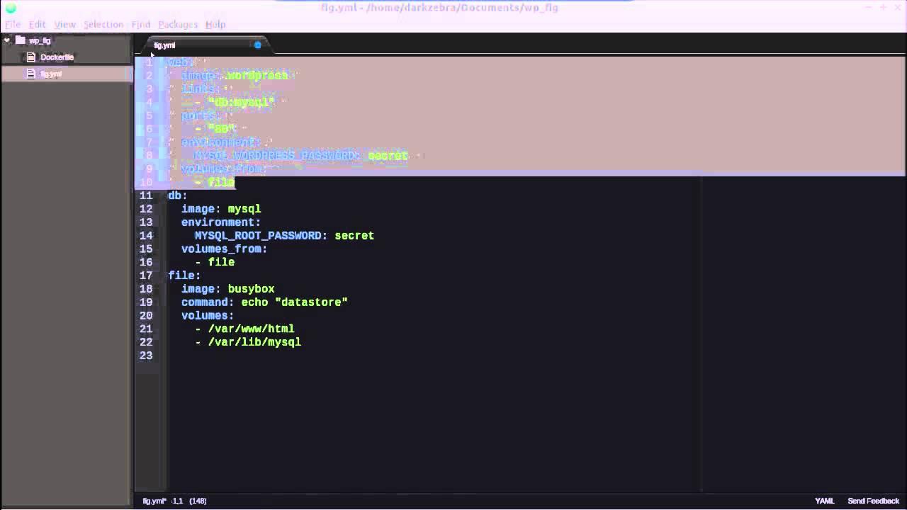 Docker Tutorial:  Using Fig to Setup a Wordpress Docker Stack.