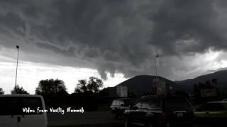 20/06/2016 Закарпатье. Тячев. Мощный ураган с градом.