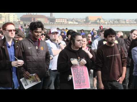 STUC protest against youth unemployment, Tory Conference, Troon