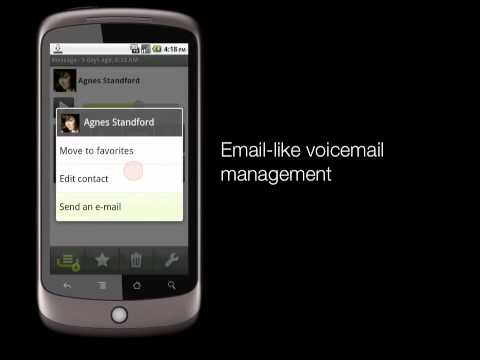 StreamWIDE Visual Voicemail For Android™ Devices