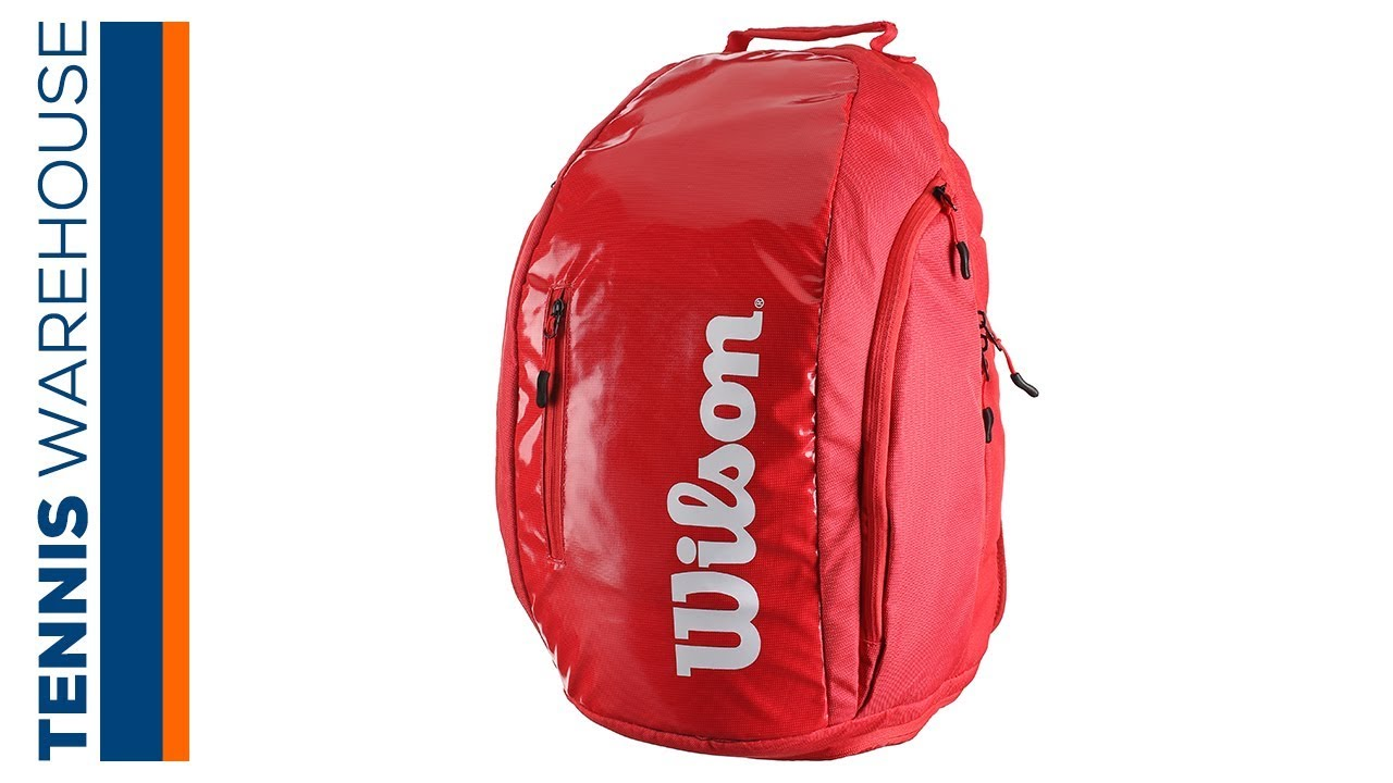 90dd1446fc Wilson Super Tour Tennis Backpack - YouTube