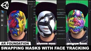Unity3d AR Stiftung - Hinzufügen von Gesichtsmasken mit AR-Face-Tracking-Und Dreh-Face-Tracking-und Ausschalten
