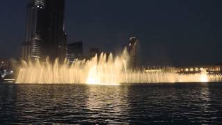 Dubai dancing fountain 2014 - Arabic Song HD