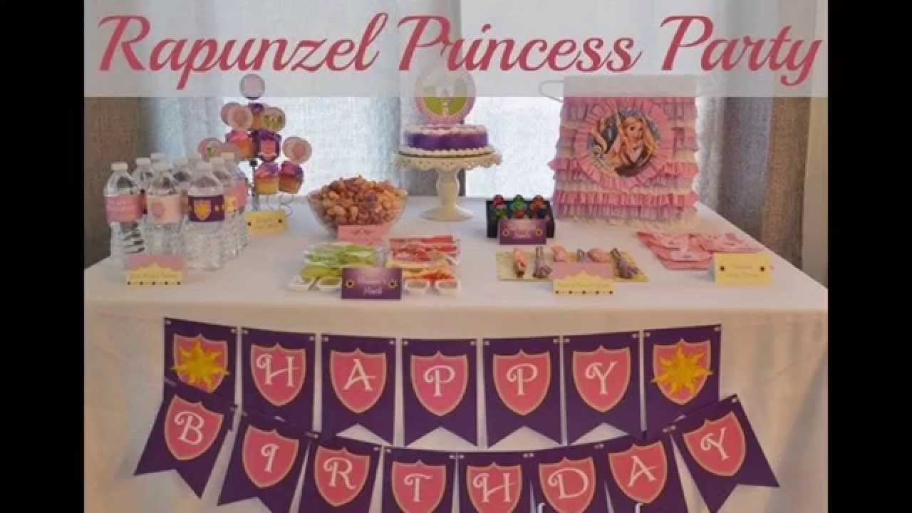 Beautiful Tangled Birthday Party Decorations Ideas