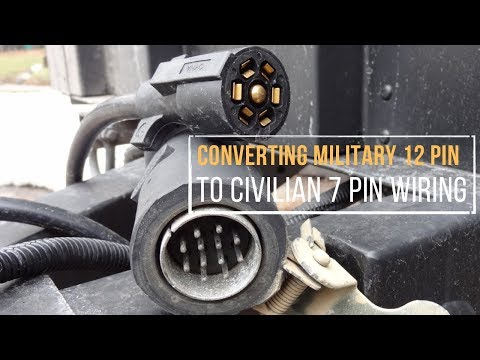 converting a military 12 pin to civilian 7 pin trailer wiring in under 5  minutes - youtube
