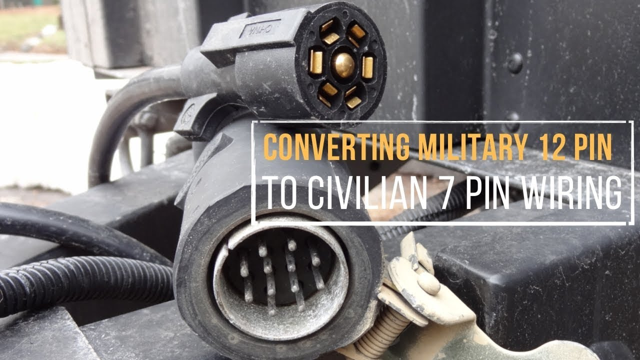 converting a military 12 pin to civilian 7 pin trailer wiring in under 5 minutes [ 1280 x 720 Pixel ]