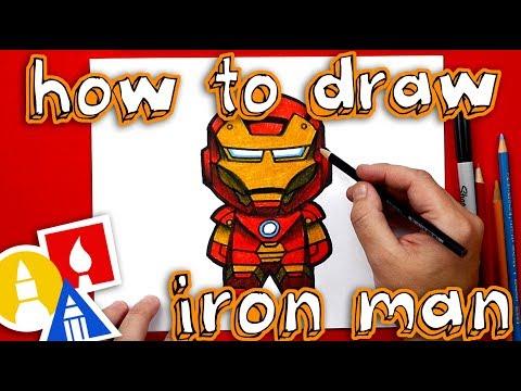 How To Draw Cartoon Iron Man