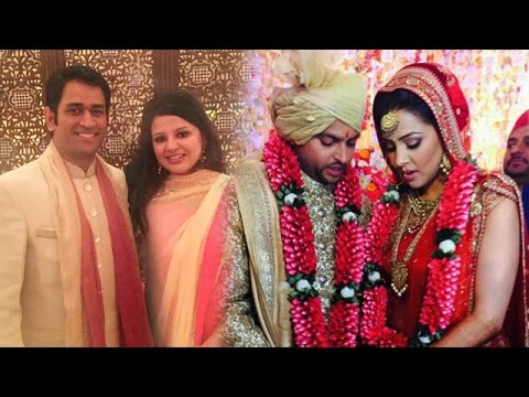 Mahendra Singh Dhoni With Wife Sakshi Attend Suresh Raina's Wedding