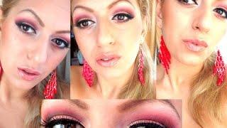 Грим в кафяво и червено (Видео урок) - Makeup tutorial - smokey eye - red and brown