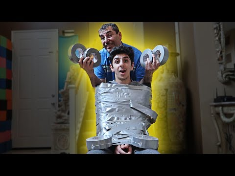 Thumbnail: INSANE DUCT TAPE CHALLENGE!! (Can you escape?) *IMPOSSIBLE*