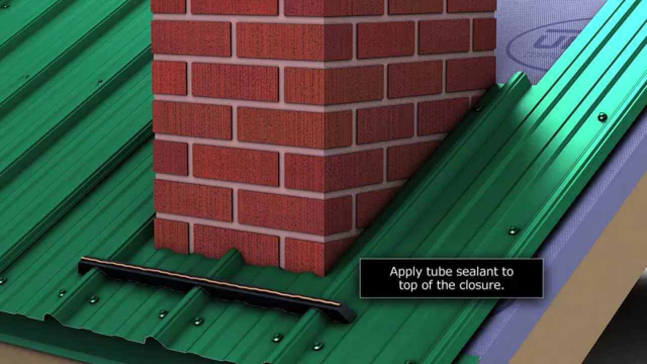 How To Install Chimney Flashing When Using Union S Masterrib Metal Roofing Panel Youtube