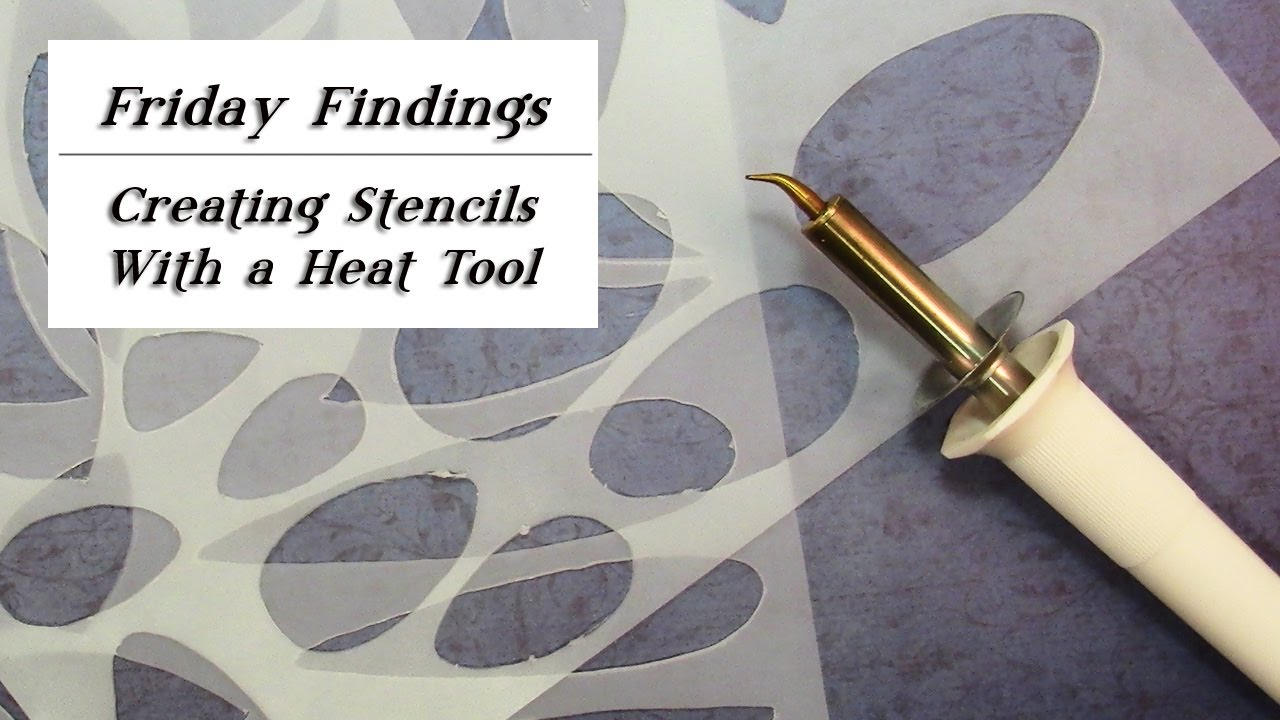 DIY Design Stencils/Shape Templates - Friday Findings - YouTube