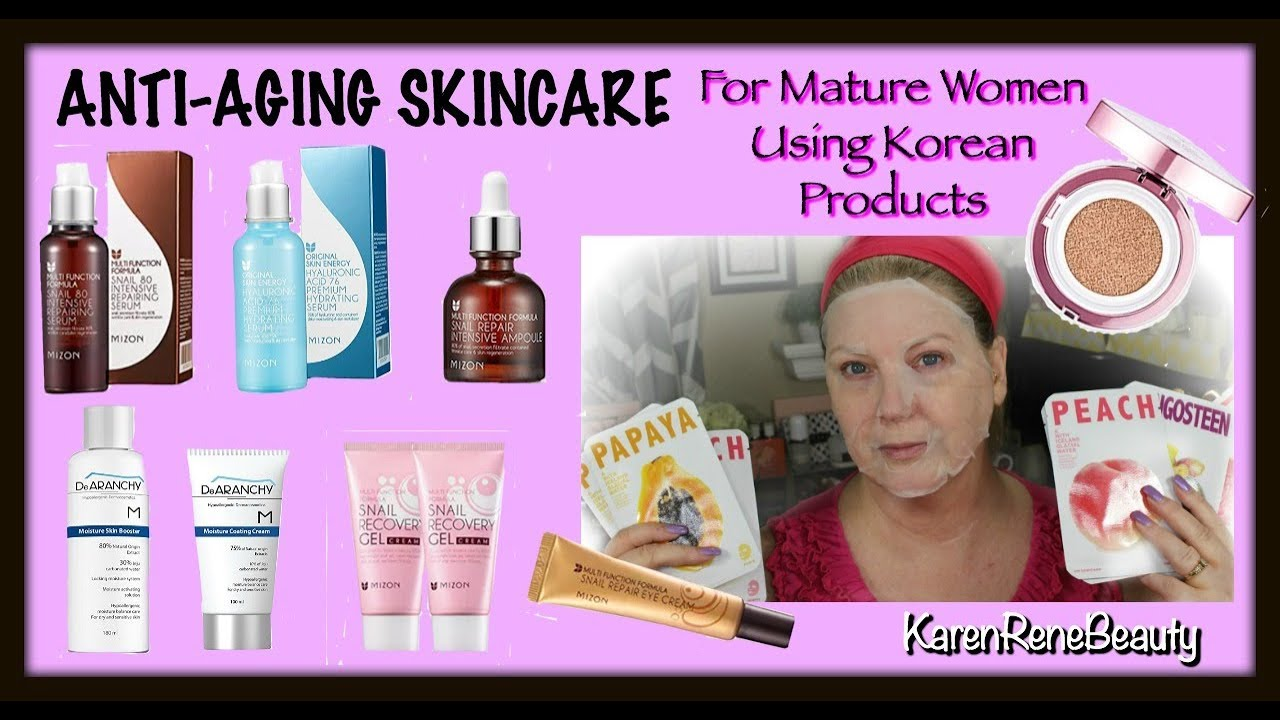 Skin care products for mature skin