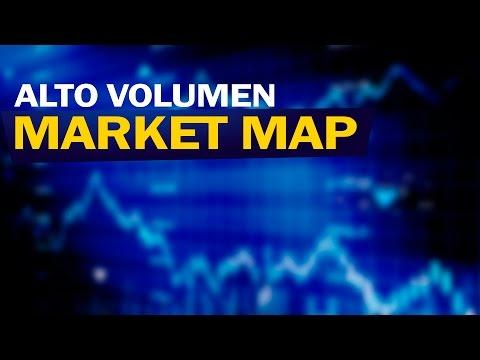 Market map y la zona de alto volumen a precio