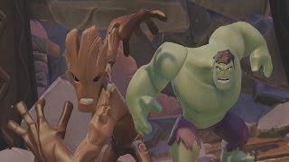 Disney Infinity 3.0 Gameplay Part 1 - I AM GROOT - Marvel Battlegrounds Playset