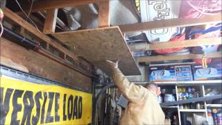 Ceiling Hung Garage Shelves