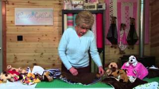 How to Sew a Critter Cuddle Baby Blanket - Minky and Beanie Babies