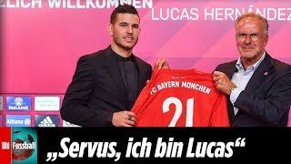 Lucas Hernández spricht schon bayrisch   Highlights der Präsentation von Bayerns teuerstem Neuzugang