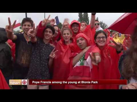 Pope Francis among the young at Blonia Park