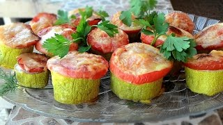 Кабачки с мясом, запеченные в духовке, Courgettes with meat, baked in the oven