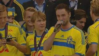 [LIVE] Måns Zelmerlöw - Heroes (Swedish U21 Team Welcome Party TV4 - Kungsträdgården)