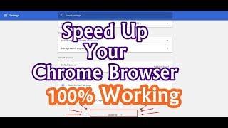 Speed Up Google Chrome Browser - YT