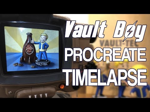 Fallout Vault Boy Procreate Time Lapse