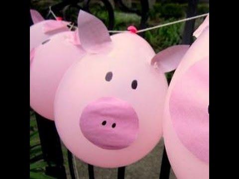 Ideas originales y econ micas para decorar tu fiesta de pepa la cerdita youtube - Capazos baratos para decorar ...