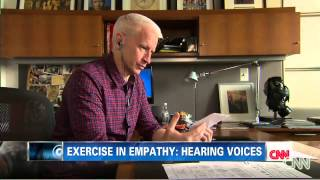 Anderson Cooper Tries A Schizophrenia Simulator [HQ Audio]