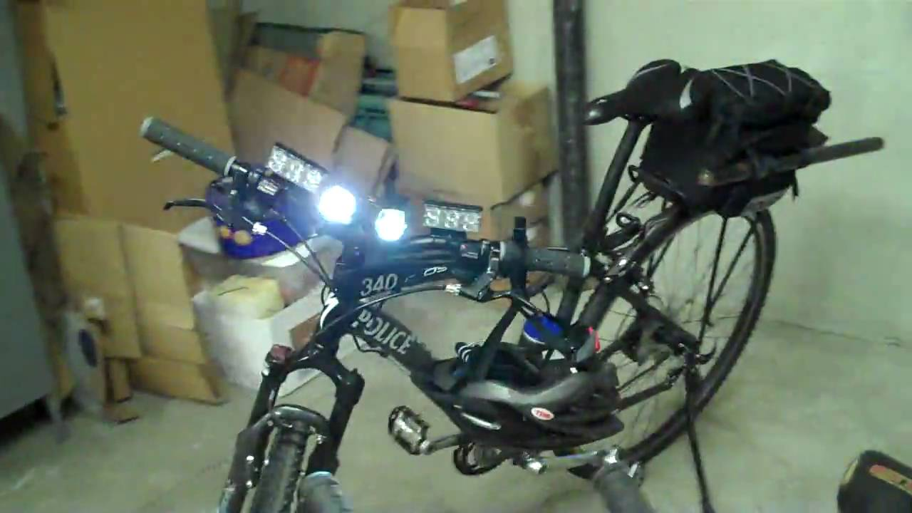 Police Bicycle Led Lights Youtube