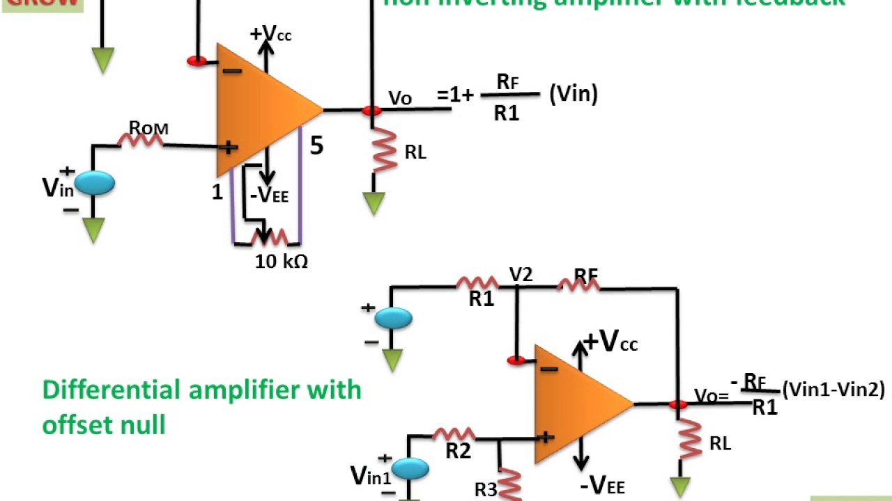 Dc Amplifier Op Amp Learn And Grow Youtube Ac Coupling A Noninverting