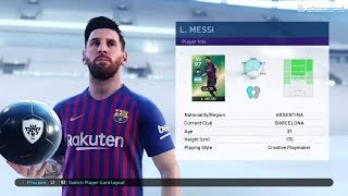 PES 2019 - Lionel Messi Featured players stats
